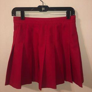 American Apparel Red Tennis Skirt